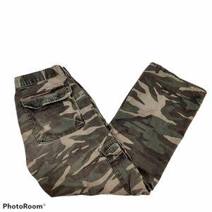 Wrangler Men's Green Camo Cotton Cargo Pants sz 32